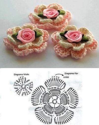 Flores Crochet Para Detalles Flores Al Crochet Pinterest