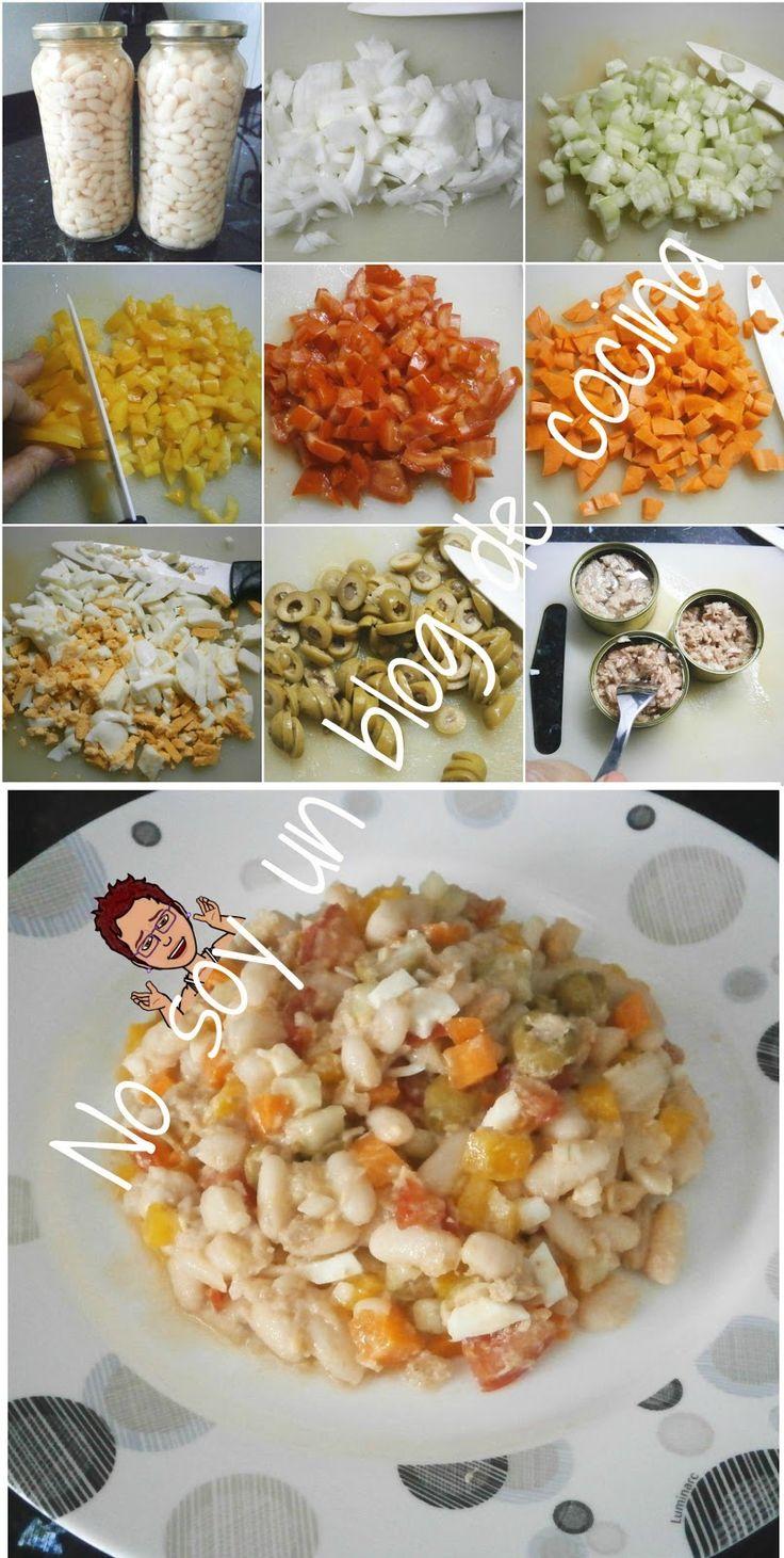 No soy un blog de cocina: ENSALADA DE JUDÍAS BLANCAS