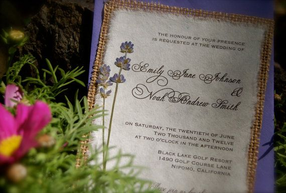 Do It Yourself  Rustic Burlap and Lavender by InvitationsByAlecia, $4.00