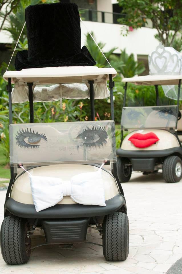 Bridal car tiara veil and top-hat
