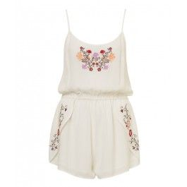 Sportsgirl - Bouquet Embroidered Playsuit