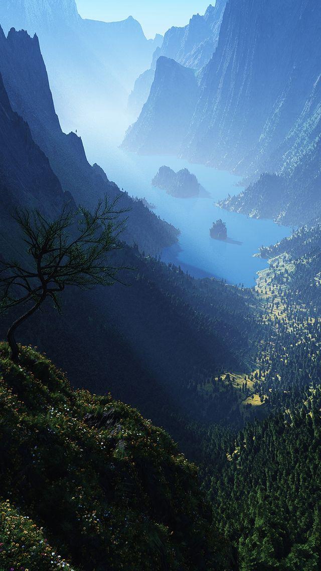 Green Mountains iPhone 5 Wallpaper | MTNS. -Wilderness-Nature in 2019 | Pinterest | Mountains ...