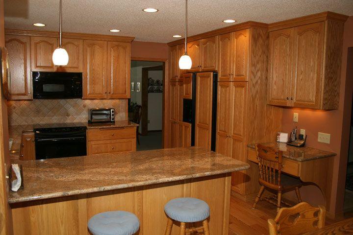 Golden oak cabinets granite countertops linda and jim arden hills