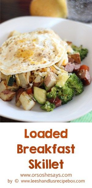 This loaded breakfast skillet is our go-to brinner when we have veggies in the f...