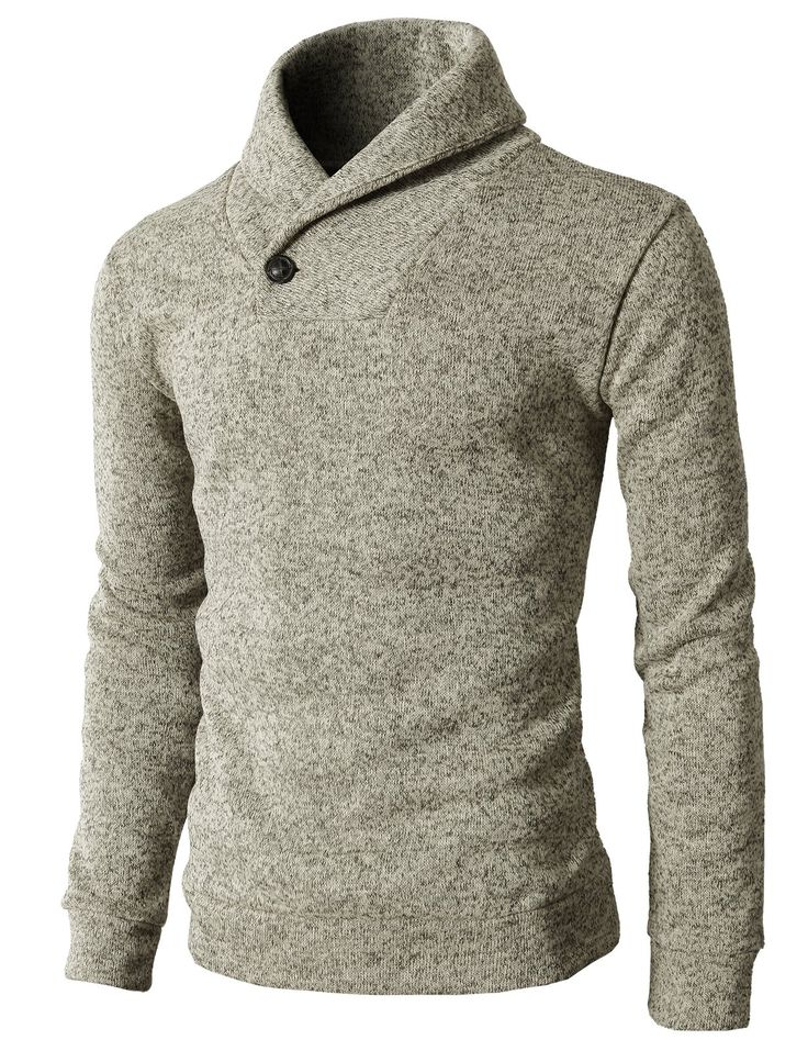 H2H Men's One Button Point Shawl Collar Knited Slim Fit Pullover Sweater at Amazon Men's Clothing store: Mens Turtleneck Sweater