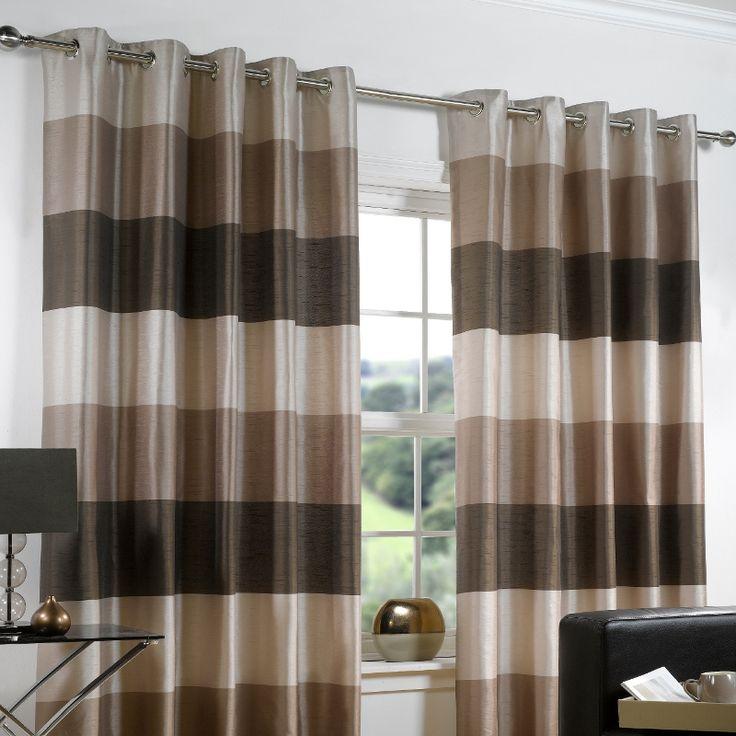 Cozy Modern Curtain Ideas for Living Room : Eyelet Curtains Ideas For Living Room