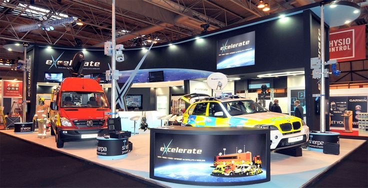 Excelerate stand at the Emergency Services Show - NEC
