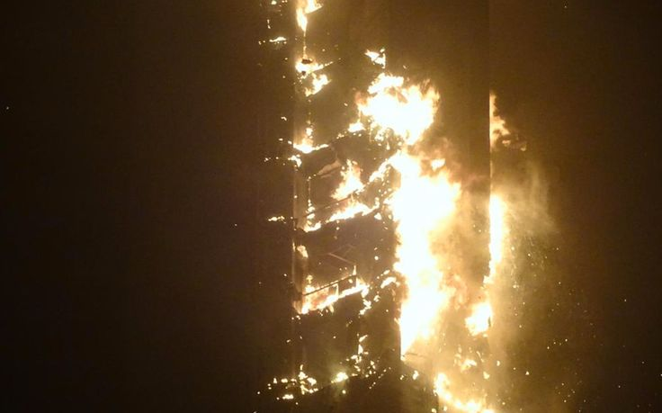 One of the world's tallest residential buildings, home to multi-million pound   apartments, is engulfed in flames