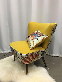 Tapissier décorateur sur Paris rénovation canapé réfection sièges confection rideaux stores. Fauteuil Cocktail Vintage. Casamance