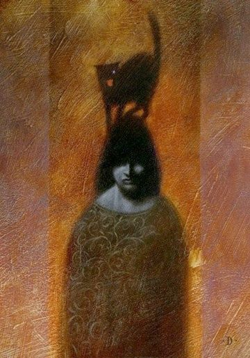 "nagybarna:  Gianni De Conno- ""The Black Cat"""