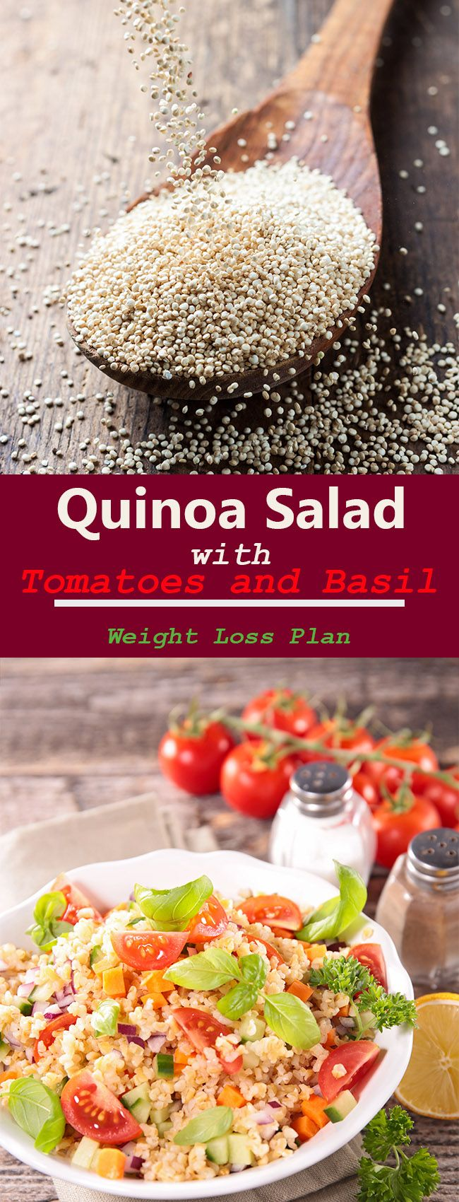 Quinoa Salad with Tomatoes and Basil – Weight Loss Plan – Perfect Body Secret
