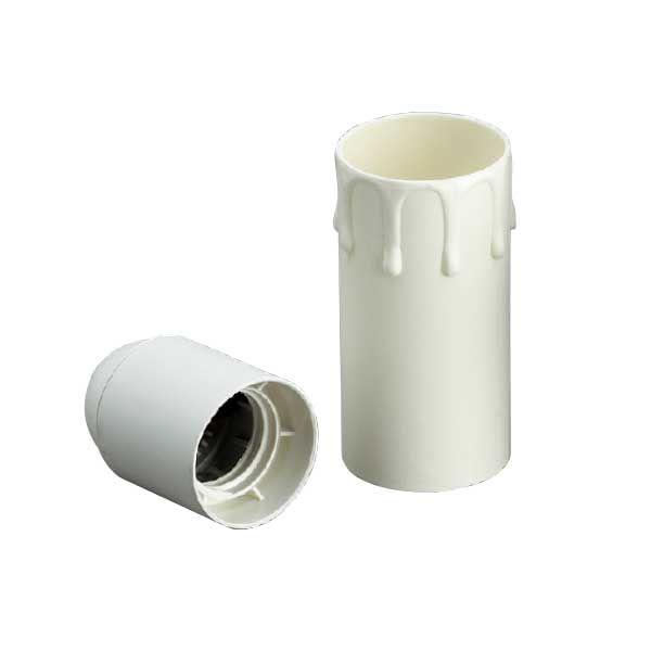 Comprar | Funda vela gotas blanca E27 8cm | Fundas y velas restauración lámparas #handmade #accesorioslamparas #accesoriosiluminacion #fabricartulampara #accesoriosvintage