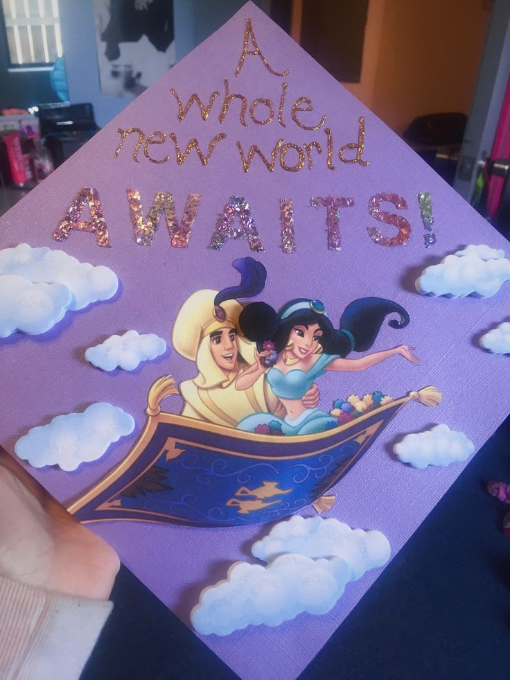 My Aladdin Themed Graduation Cap Disney Princess