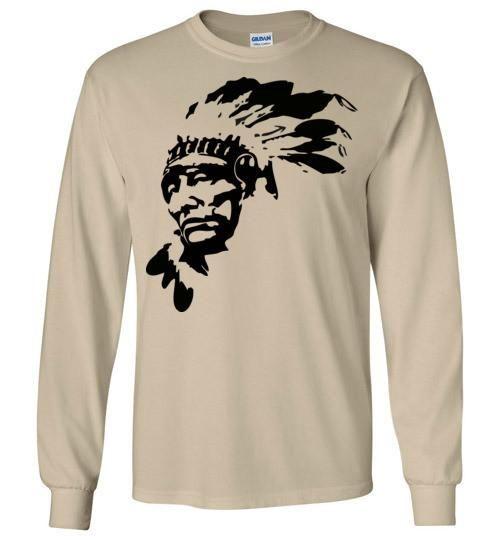 Native American Indian Chief , Gildan Long Sleeve T-Shirt