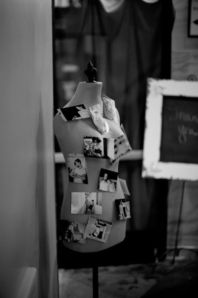 tailor's dummy decorated with photos - Fashion & beauty E-magazine real wedding peek by Yan Photography