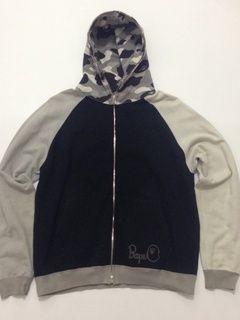 Bape Bape multi color camo zip hoodie