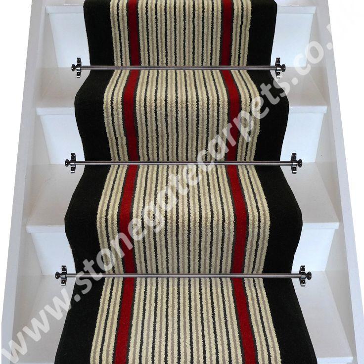 Brintons Carpets Humbug/Rothko/Ebony Stair Runner