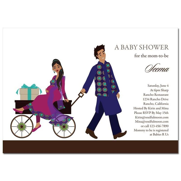8 best Baby shower invitations desi styles images on Pinterest