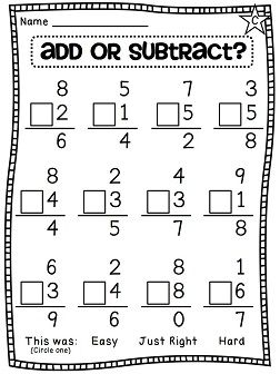 First Grade Math Unit 8: Balancing Equations, Choosing an ...