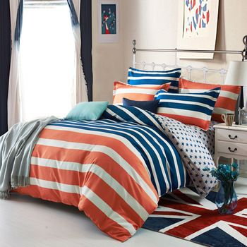 17 best images about decorating time kids on pinterest - Navy blue and orange bedding ...
