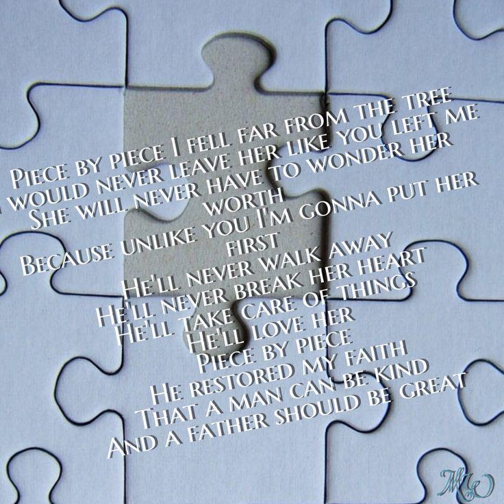 Piece by piece lyricart kelly Clarkson
