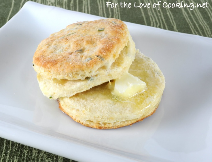 Flaky Buttermilk and Chive Biscuits | Yummies | Pinterest