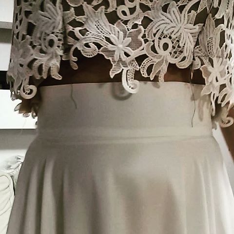 When the bridal gown starts to taking shape... #karavan #karavanclothing #karavanbridal #karavantailormade #bridal #bride #marriage #weddinggown #bridalgown #romantic #bohemian #traveler #wanderer #free #always #greece #greek #greekdesigners #lace #silk #maxidress #love