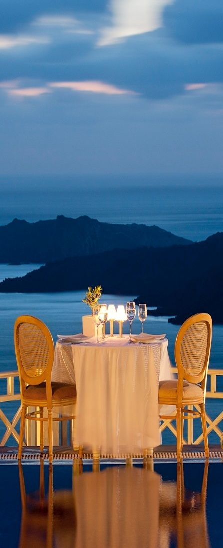 Dining for two? Santorini GREECE