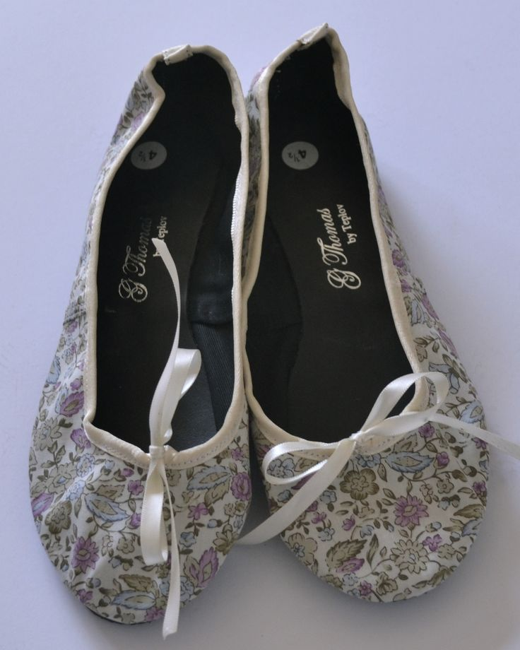 Beautiful fabric ballet pumps Handmade with love from Cape Town. Made from cotton/satin fabric