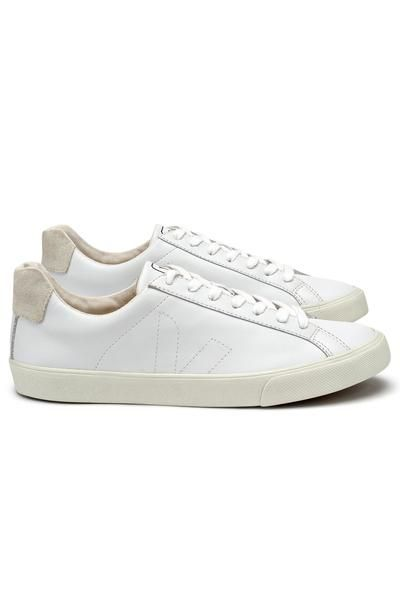 Esplar White Leather Sneaker by Veja Fair Trade Made in Brazil