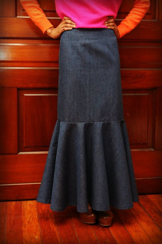 564c3e637 Long Denim, Dressy Mermaid Skirt | Amazing, Awesome, Bitching, Sick ...