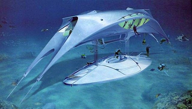 photo parmi les nombreux projets de jacques rougerie, le «seaspace», une maison sous-marine.