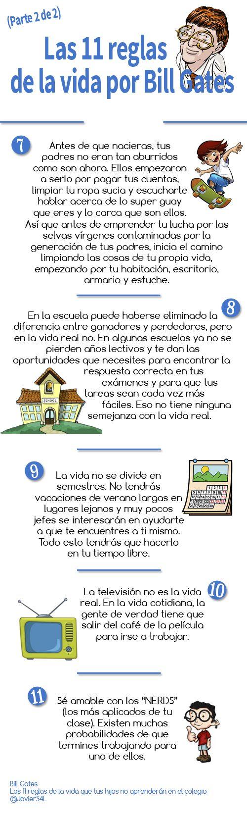 Bill Gates: Las 11 reglas de la vida que tus hijos no aprenderán en el colegio (Parte 2)
