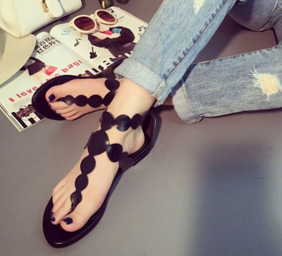 Women Sandle Sweet Flipflop T Strappy Hollow Out Casual Us4.5-6 Lady Shoes