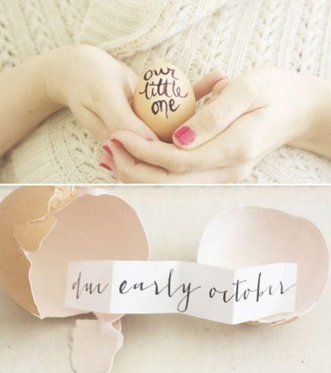 cute idea for a birth announcement (no, I am not pregnant!)
