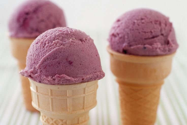 The best ice-creams are home-made and this one is made extra special with fresh blackberries.