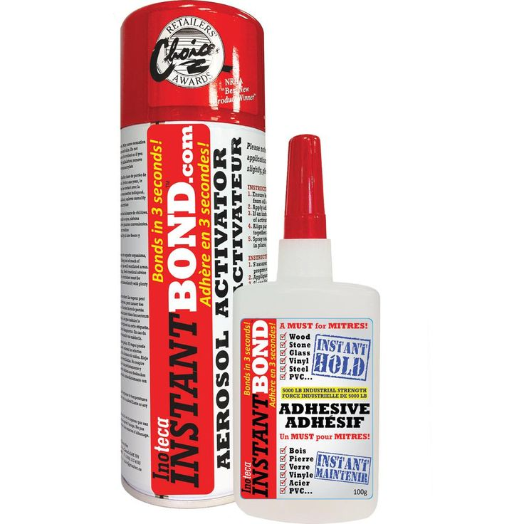 Instantbond World's Fastest Instant Adhesive Glue - Clear - Cyanoacrylate Glue and Activator Spray - 100/400 ml