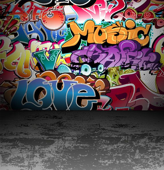 Wall graphic    Illustration  Graffiti wall urban by ZoogSay, $40.00