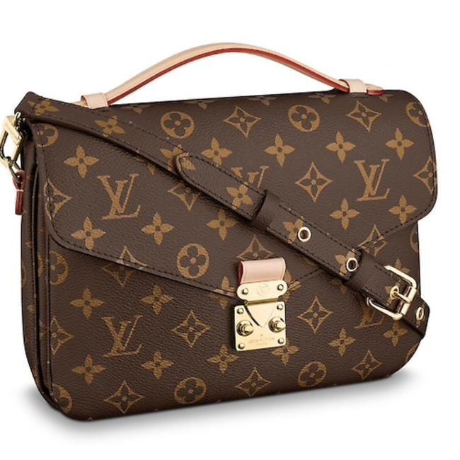 3b890643ec93 Louis Vuitton Pochette Monogram Metis Brown Canvas Cross Body Bag - Tradesy