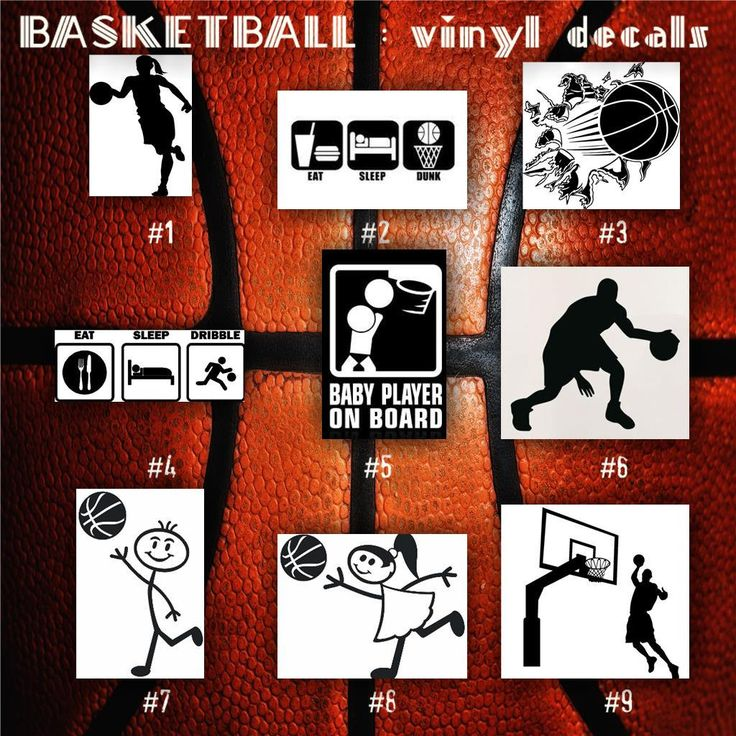 BASKETBALL Vinyl Decals Bball Stickers Hoops Car Decal - Car decal stickers custom