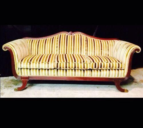 Antique Sofa Duncan Phyfe: Vintage Sofa Duncan Phyfe Mahogony Wood Duncan Phyfe