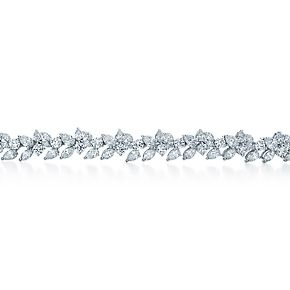Tiffany Cluster bracelet with round brilliant, pear-shaped and marquise diamonds.