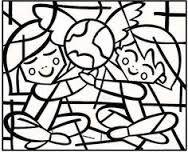 """Résultat de recherche d'images pour """"coloriages d'enfants romero britto"""""""