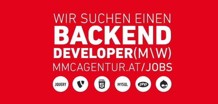 Suchen Web Entwickler mit Schwerpunkt TYPO3 und Drupal mit mehrjähriger Praxisfahrung. Agenturerfahrung oder Sitecore-Kenntnisse von Vorteil. Wir suchen Backend Developer: www.mmc-agentur.at/jobs