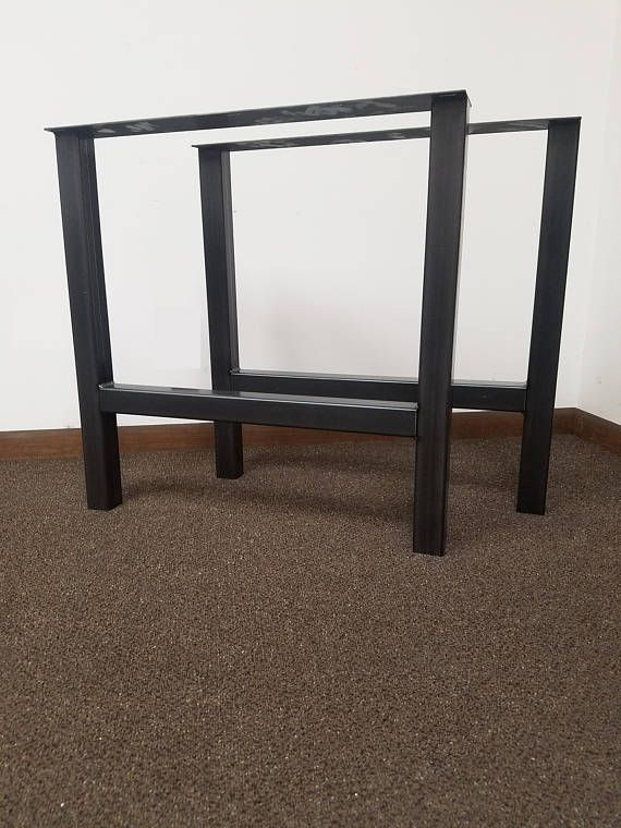 These Steel Table Legs Add A Unique Blend Of Modern And Industrial Styles  To Any Custom Project Or Retro Fit. These Economy Style Legs Are A Standard  ...