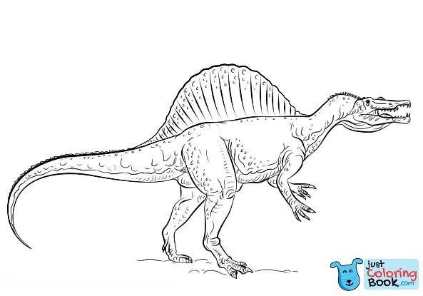 Free Spinosaurus Dinosaur Coloring Pages