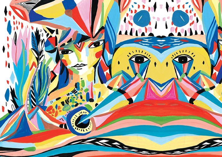 """""""cubism of reality"""" Illustrated by Cleise Vidal"""