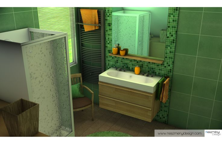 bathroom 3D visualization