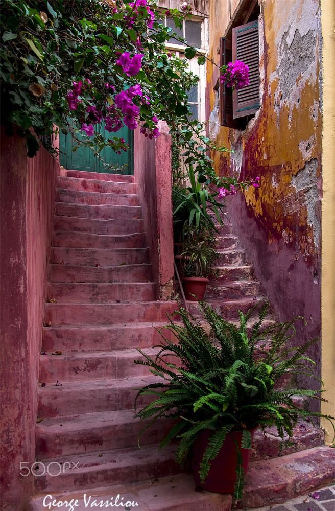 Steps in Hania, Crete, Greece