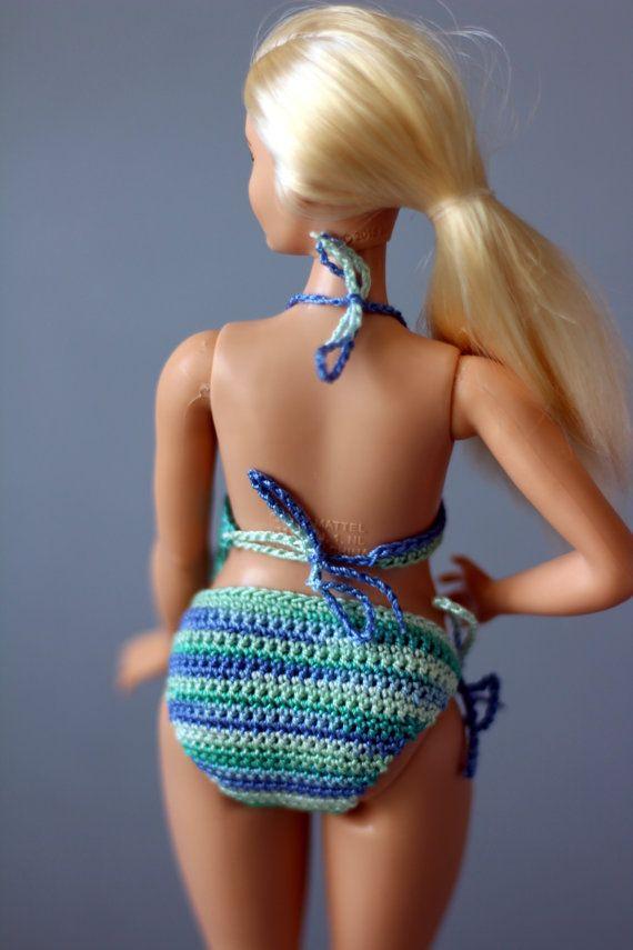 Bochtige Barbie doll kleding  moderne bikini's door RianasDollCloset